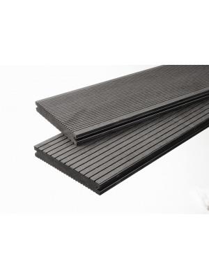 Volldiele dunkelgrau -beidseitig- 20x140mm