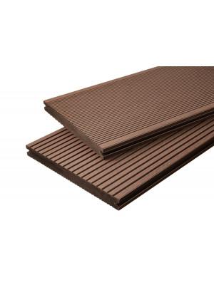 Breitdiele Volldiele XL dunkelbraun -beidseitig- 20 x 200 mm