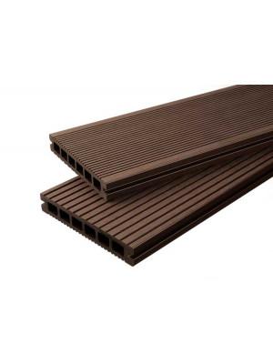 Premium Diele dunkelbraun -beidseitig- 23x146mm